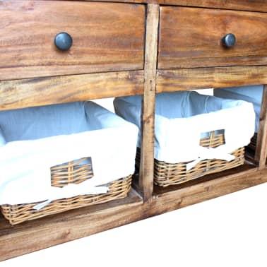 """vidaXL Sideboard Solid Reclaimed Wood 39.4""""x11.8""""x19.7""""[3/6]"""