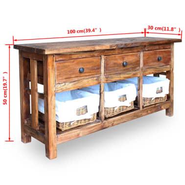 """vidaXL Sideboard Solid Reclaimed Wood 39.4""""x11.8""""x19.7""""[6/6]"""