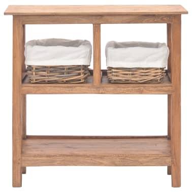 vidaXL Odkládací stolek z masivního recyklovaného dřeva, 69x28x70 cm[2/7]