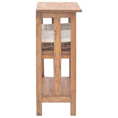 vidaXL Odkládací stolek z masivního recyklovaného dřeva, 69x28x70 cm[3/7]