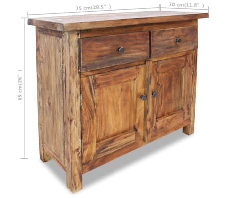 "vidaXL Sideboard Solid Reclaimed Wood 29.5""x11.8""x25.6""[7/7]"