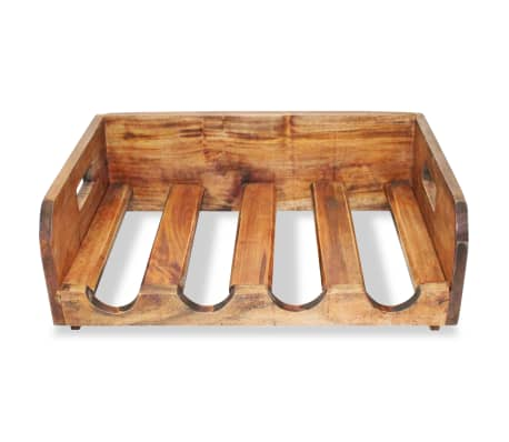 vidaXL Wine Racks 4 pcs for 16 Bottles Solid Reclaimed Wood[5/6]