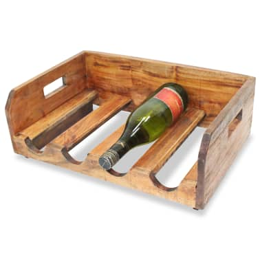 vidaXL Wine Racks 4 pcs for 16 Bottles Solid Reclaimed Wood[3/6]