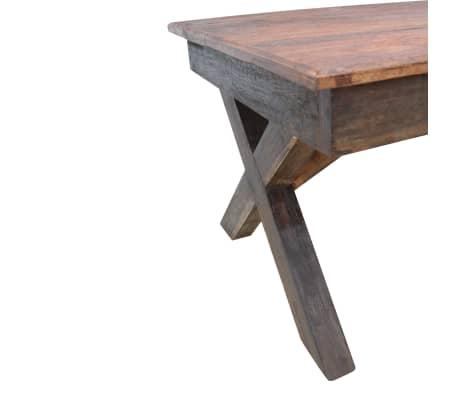 acheter vidaxl table basse bois de r cup ration massif 110 x 60 x 45 cm pas cher. Black Bedroom Furniture Sets. Home Design Ideas