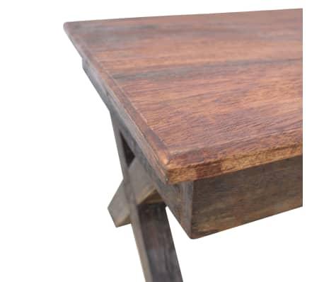 """vidaXL Coffee Table Solid Reclaimed Wood 43.3""""x23.6""""x17.7""""[4/6]"""