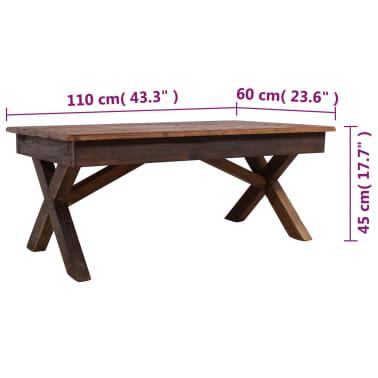 """vidaXL Coffee Table Solid Reclaimed Wood 43.3""""x23.6""""x17.7""""[6/6]"""