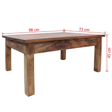 "vidaXL Coffee Table Solid Reclaimed Wood 38.6""x28.7""x17.7""[7/7]"