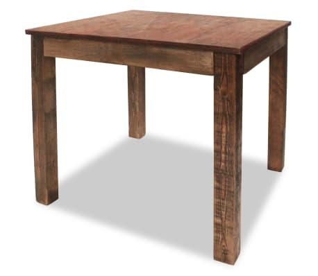 vidaXL Table de salle à manger Bois de récupération massif 82x80x76 cm[1/9]