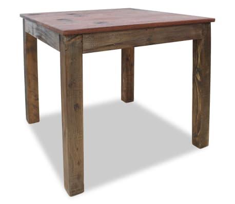 vidaXL Table de salle à manger Bois de récupération massif 82x80x76 cm[2/9]