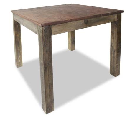 vidaXL Table de salle à manger Bois de récupération massif 82x80x76 cm[3/9]