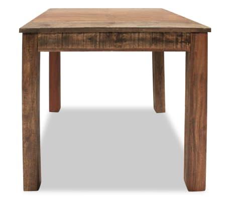 vidaXL Table de salle à manger Bois de récupération massif 82x80x76 cm[5/9]