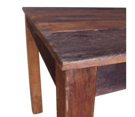 vidaXL Table de salle à manger Bois de récupération massif 82x80x76 cm[6/9]