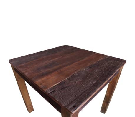 vidaXL Table de salle à manger Bois de récupération massif 82x80x76 cm[7/9]