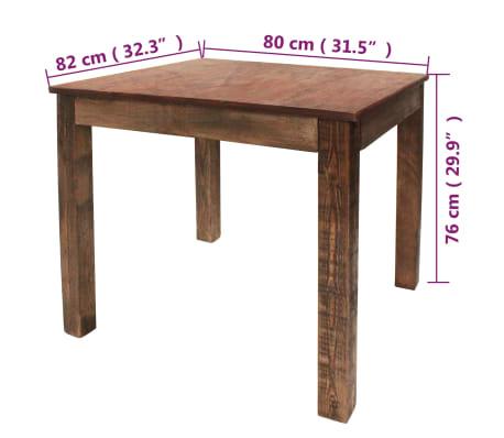 vidaXL Table de salle à manger Bois de récupération massif 82x80x76 cm[9/9]