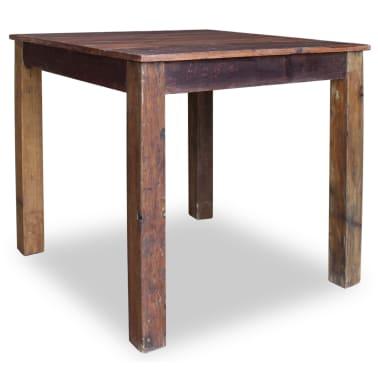 vidaXL Table de salle à manger Bois de récupération massif 82x80x76 cm[4/9]