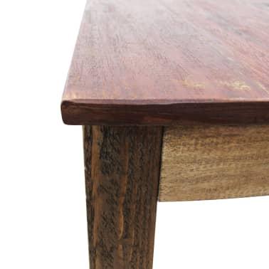 vidaXL Table de salle à manger Bois de récupération massif 82x80x76 cm[8/9]