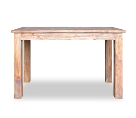 vidaXL Table de salle à manger Bois de récupération 120 x 60 x 77 cm[4/6]