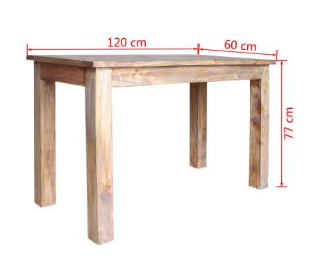 vidaXL Table de salle à manger Bois de récupération 120 x 60 x 77 cm[6/6]