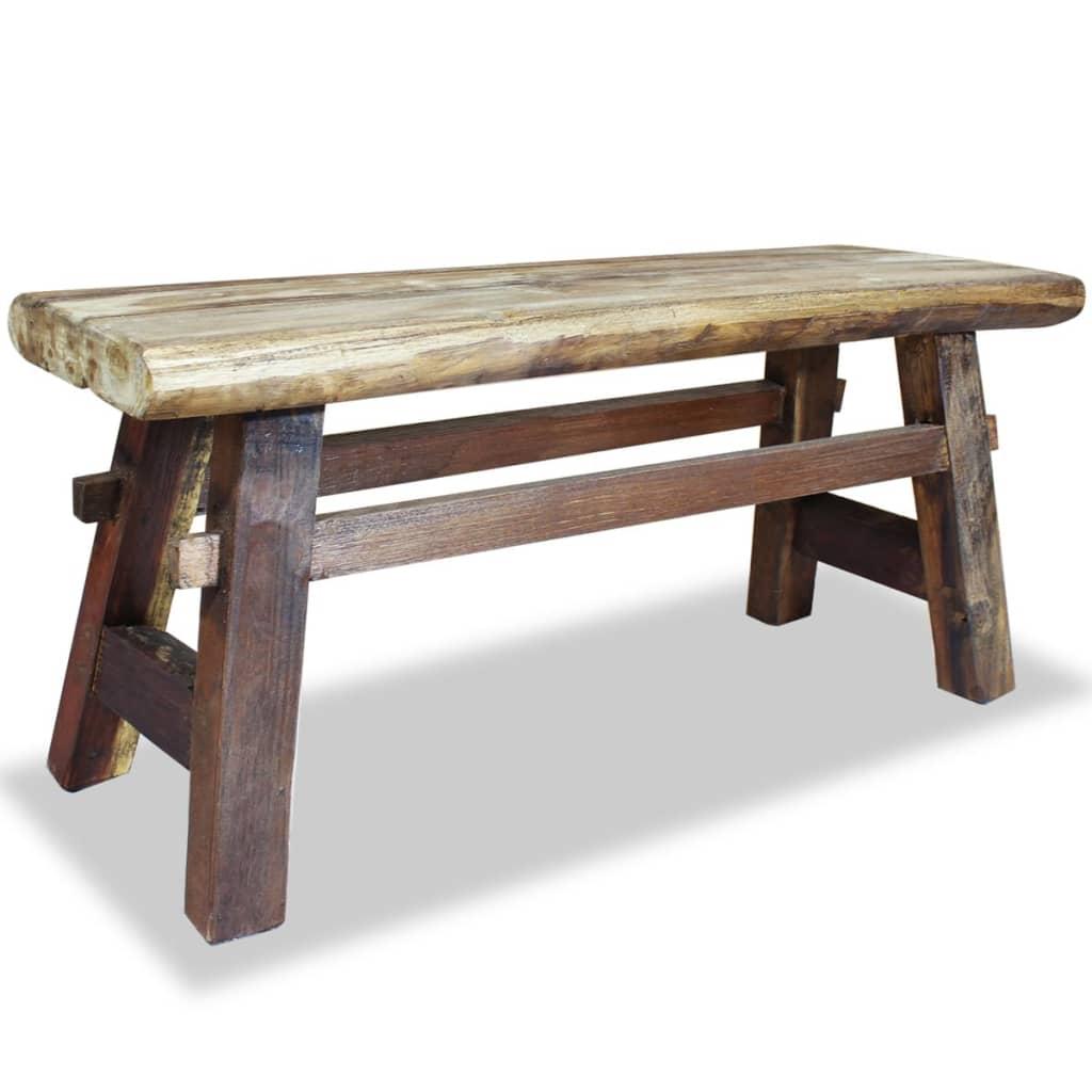 vidaXL Bancă din lemn masiv reciclat 100x28x43 cm poza 2021 vidaXL