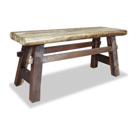 "vidaXL Bench Solid Reclaimed Wood 39.4""x11""x16.9""[1/4]"