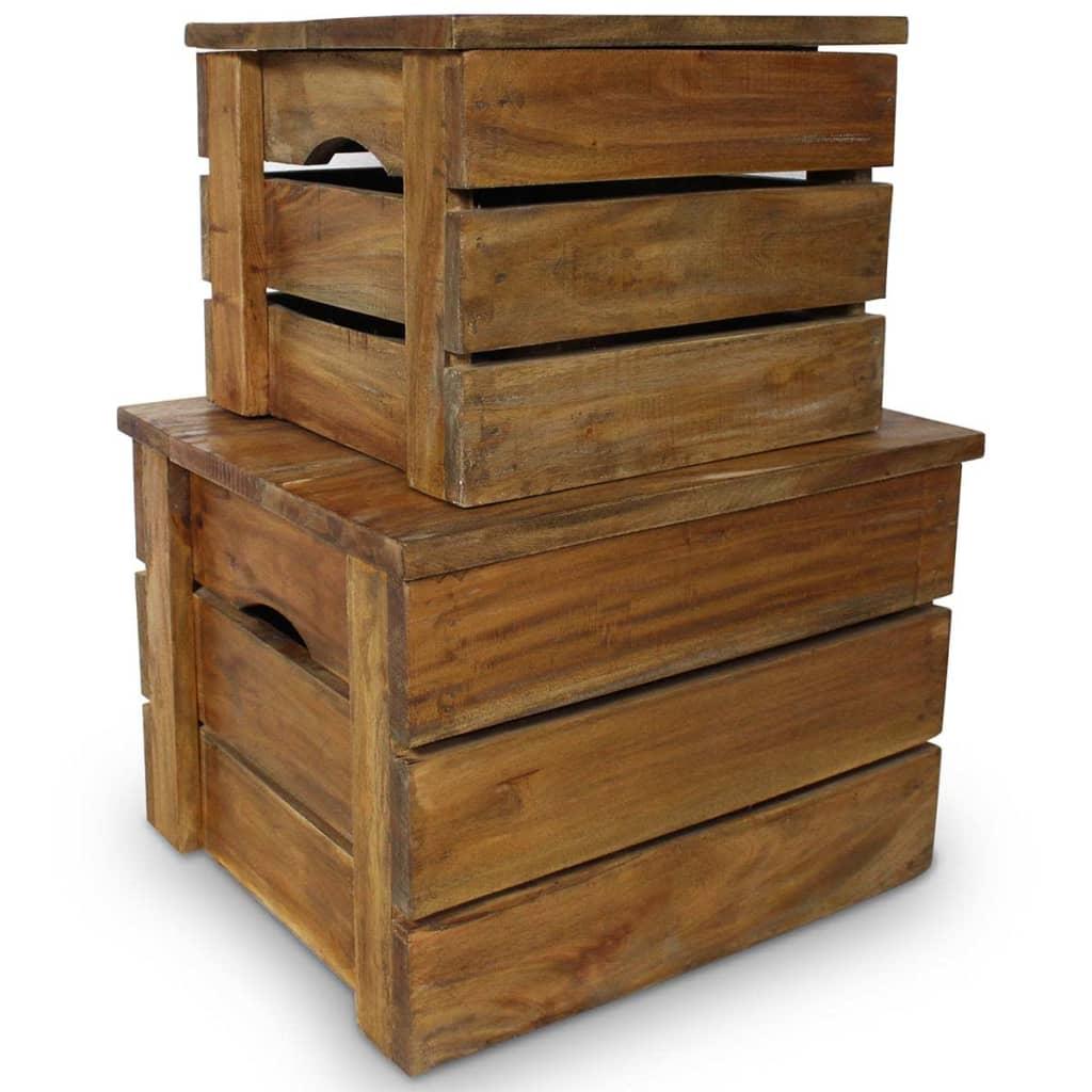 Hoiukastikomplekt, 2 tk, taastatud puit