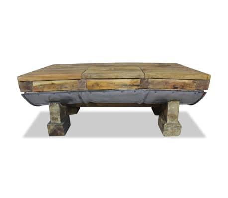 vidaXL Table basse Bois de récupération massif 90 x 50 x 35 cm[2/10]