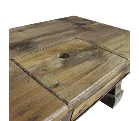 vidaXL Table basse Bois de récupération massif 90 x 50 x 35 cm[3/10]