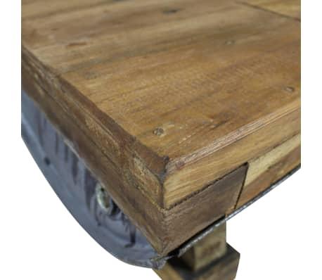 vidaXL Table basse Bois de récupération massif 90 x 50 x 35 cm[6/10]