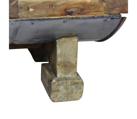vidaXL Măsuță de cafea, lemn masiv reciclat, 90x50x35 cm[7/10]