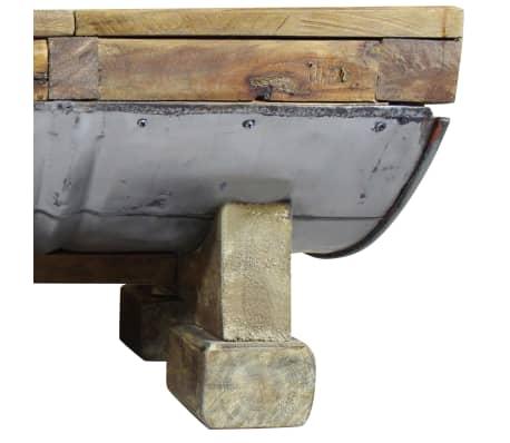vidaXL Măsuță de cafea, lemn masiv reciclat, 90x50x35 cm[8/10]