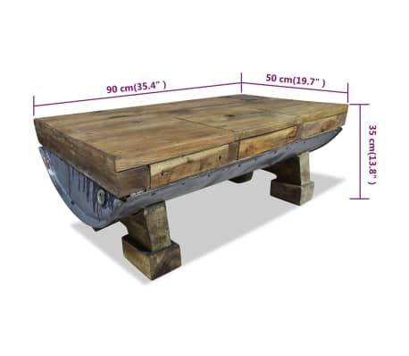 vidaXL Măsuță de cafea, lemn masiv reciclat, 90x50x35 cm[10/10]