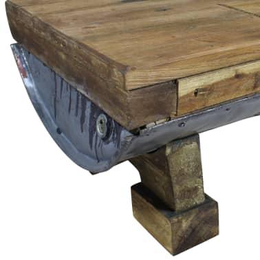 vidaXL Măsuță de cafea, lemn masiv reciclat, 90x50x35 cm[5/10]