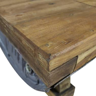 vidaXL Măsuță de cafea, lemn masiv reciclat, 90x50x35 cm[6/10]