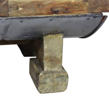 vidaXL Table basse Bois de récupération massif 90 x 50 x 35 cm[7/10]