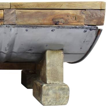 vidaXL Table basse Bois de récupération massif 90 x 50 x 35 cm[8/10]