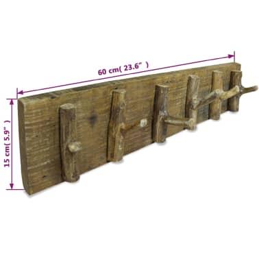 "vidaXL Coat Rack Solid Reclaimed Wood 23.6""x5.9""[3/3]"