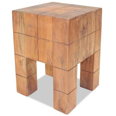 "vidaXL Stool Solid Reclaimed Wood 11""x11""x15.7""[1/5]"