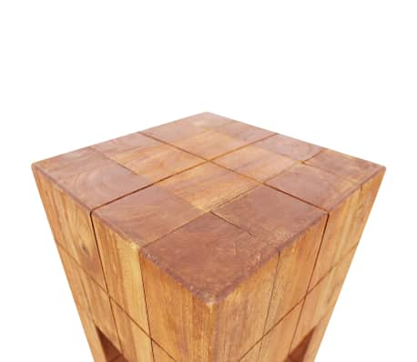 "vidaXL Stool Solid Reclaimed Wood 11""x11""x15.7""[3/5]"