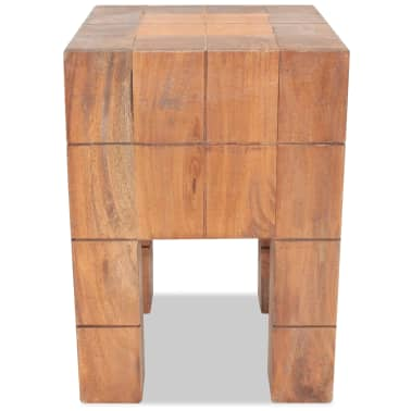 "vidaXL Stool Solid Reclaimed Wood 11""x11""x15.7""[2/5]"