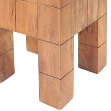 "vidaXL Stool Solid Reclaimed Wood 11""x11""x15.7""[4/5]"