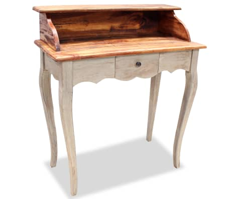 "vidaXL Writing Desk Solid Reclaimed Wood 31.5""x15.7""x36.2""[1/5]"