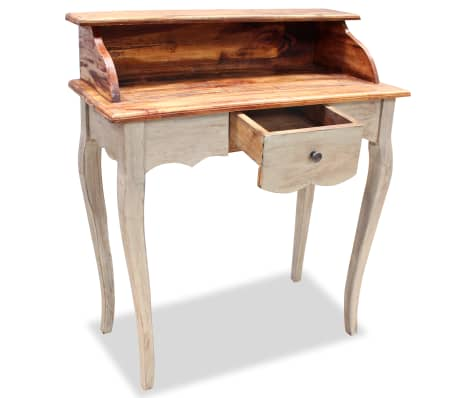 "vidaXL Writing Desk Solid Reclaimed Wood 31.5""x15.7""x36.2""[3/5]"