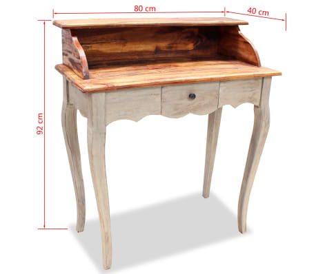 "vidaXL Writing Desk Solid Reclaimed Wood 31.5""x15.7""x36.2""[5/5]"