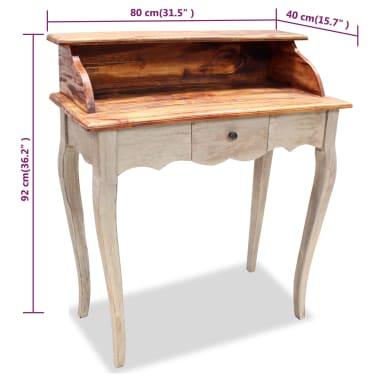 "vidaXL Writing Desk Solid Reclaimed Wood 31.5""x15.7""x36.2""[5/5]"