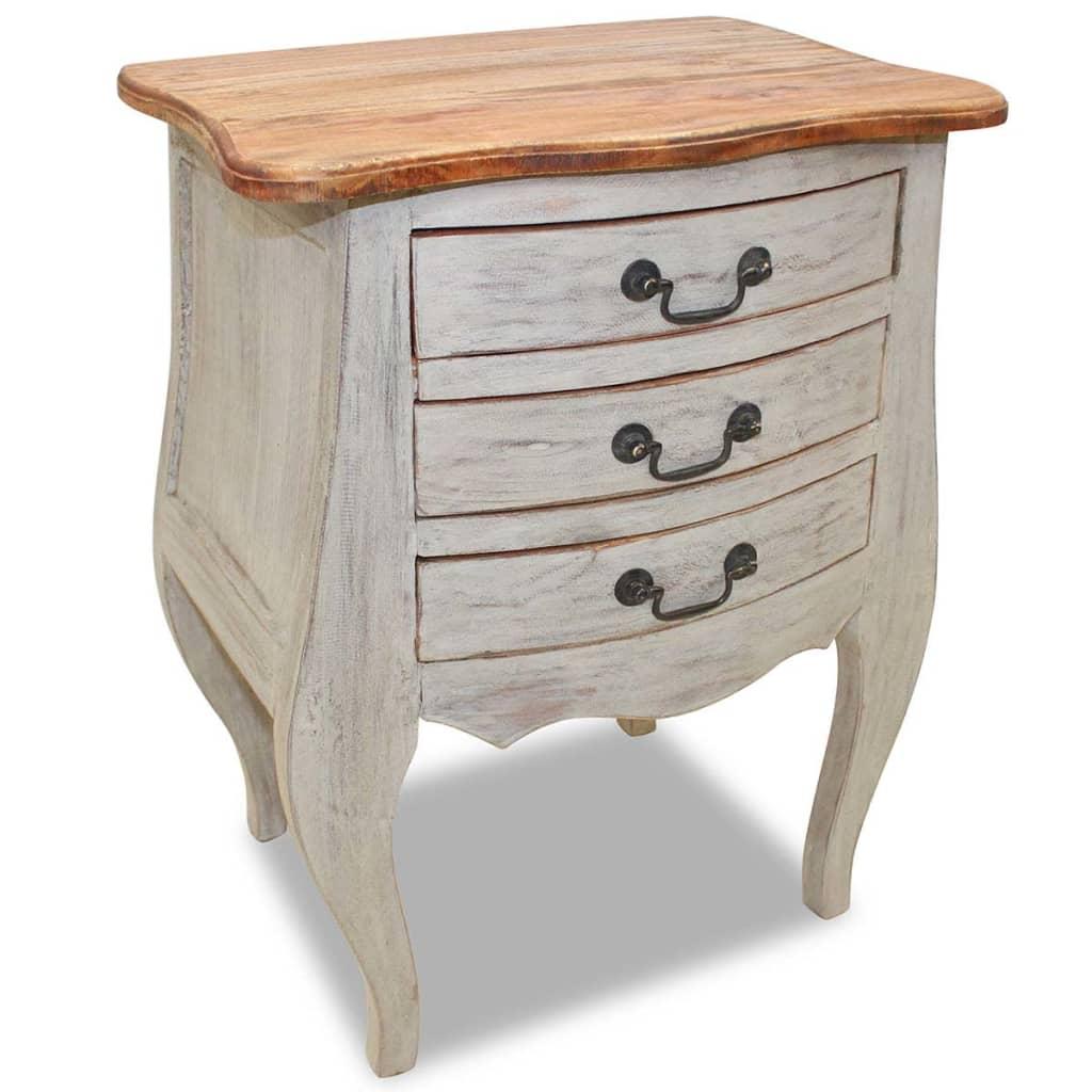 vidaXL Noční stolek, masivní recyklované dřevo, 48x35x64 cm