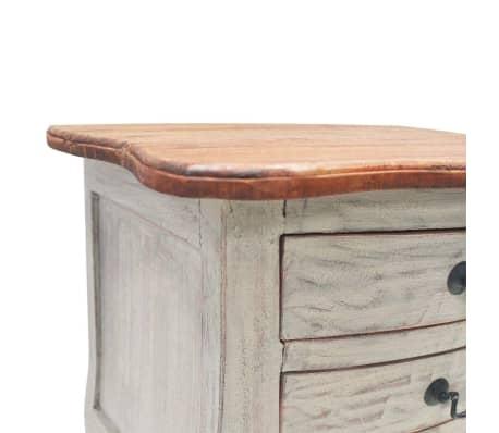 vidaXL Table de chevet Bois de récupération massif 48 x 35 x 64 cm[4/6]