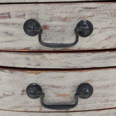 vidaXL Table de chevet Bois de récupération massif 48 x 35 x 64 cm[5/6]
