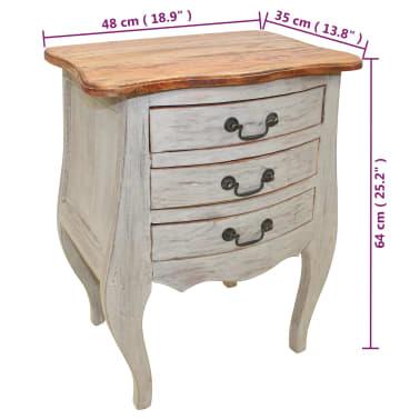 vidaXL Table de chevet Bois de récupération massif 48 x 35 x 64 cm[6/6]