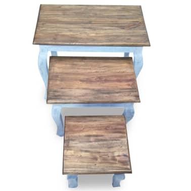 vidaXL Sustumiamų staliukų kompl., 3d., masyvi perdirbta mediena[6/9]