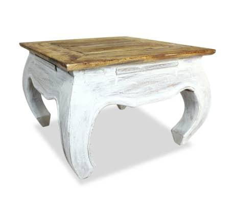 vidaXL Šoninis staliukas, masyvi perdirbta mediena, 50x50x35cm[1/4]